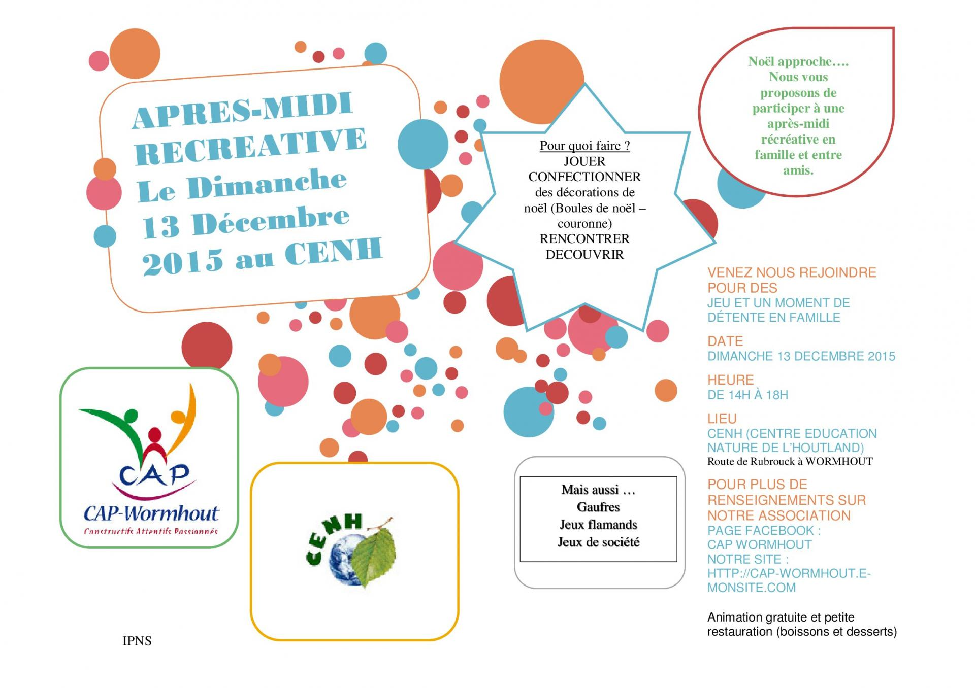 Apres midi recreative decembre 2015